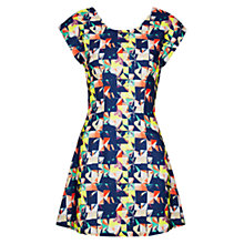 Buy Louche Bayo Geometric Print Dress, Multi Blue Online at johnlewis.com