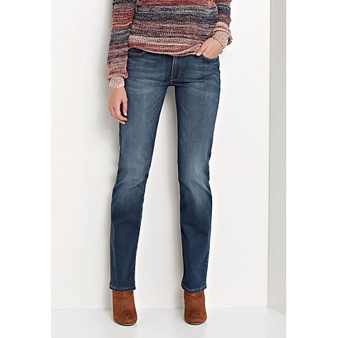 Buy Lee Marion Regular Waist Straight Leg Jeans, Velvet Blue Online at johnlewis.com