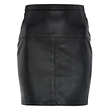 Buy Louche Garret PU Skirt, Black Online at johnlewis.com