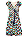 Louche Duchess Dress, Multi