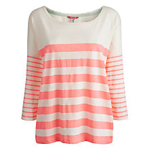 Buy Joules Cheryl Slouchy Roll Neck Top, Fluro Pink Online at johnlewis.com