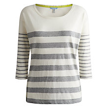 Buy Joules Cheryl Stripe Top, Grey Marl Online at johnlewis.com