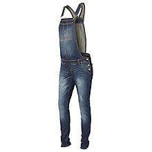 Buy Mamalicious Andrea Denim Maternity Dungarees, Blue Online at johnlewis.com