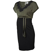 Buy Mamalicious Alicia Jersey Maternity Dress, Grey/Black Online at johnlewis.com