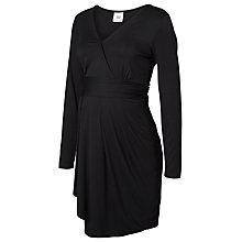 Buy Mamalicious Alma Jersey Maternity Wrap Dress, Black Online at johnlewis.com