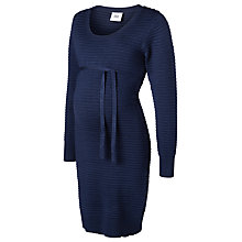 Buy Mamalicious Grace Knit Maternity Dress, Navy Online at johnlewis.com