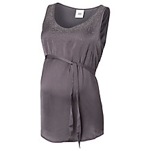 Buy Mamalicious Woven Studded Top, Grey Online at johnlewis.com