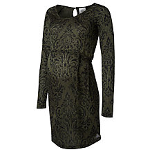 Buy Mamalicious Serine Long Sleeve Jersey Dress, Green/Black Online at johnlewis.com