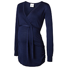 Buy Mamalicious Beta Long Sleeve Knit Top, Navy Online at johnlewis.com