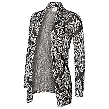 Buy Mamalicious Serine Long Sleeve Maternity Jersey Cardigan, Black/White Online at johnlewis.com