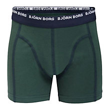 Buy Bjorn Borg Boys' Basic Trunks, Pack of 3, Blue/Green Online at johnlewis.com