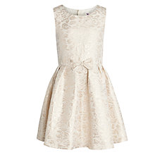 Buy John Lewis Girl Jacquard Dress, Gold Online at johnlewis.com