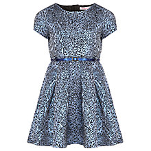 Buy Loved & Found Girls' Metallic Leopard Print Dress, Blue Online at johnlewis.com