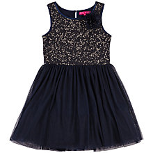 Buy Derhy Kids Girls' Lison Sequin Bodice Dress, Navy Online at johnlewis.com
