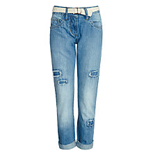 Buy Loved & Found Girls' Boyfriend Loose Fit Jeans, Light Blue Online at johnlewis.com