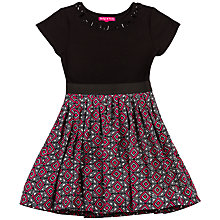 Buy Derhy Kids Girls' Maxine Contrast Skirt Geo Dress, Pink/Black Online at johnlewis.com