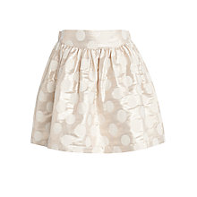 Buy John Lewis Girl Jacquard Polka Dot Skirt, Gold Online at johnlewis.com