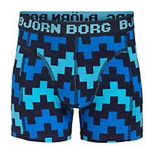 Buy Bjorn Borg Boys' Pulse Trunks, Pack of 2, Blue Online at johnlewis.com
