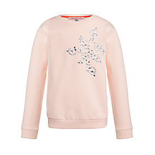 Buy Loved & Found Girls' Diamante Sweatshirt, Pink Online at johnlewis.com