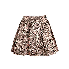 Buy Loved & Found Girls' Metallic Leopard Print Skirt, Gold Online at johnlewis.com