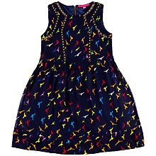 Buy Derhy Kids Girls' Mallary Bird Print Dress, Navy/Multi Online at johnlewis.com