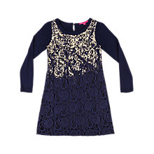 Buy Derhy Kids Maite Foil Dress, Navy Online at johnlewis.com