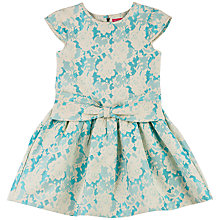 Buy Derhy Kids Girls' Leandre Jacquard Dress, Blue/Cream Online at johnlewis.com