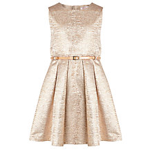 Buy Loved & Found Girls' Metallic Dress, Gold Online at johnlewis.com