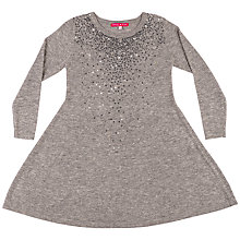 Buy Derhy Kids Girls' Mathilde Sequin Front Dress, Grey Online at johnlewis.com