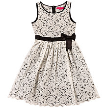 Buy Derhy Kids Girls' Lena Lace Dress, Cream Online at johnlewis.com