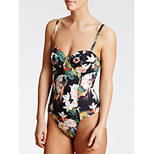 Buy Ted Baker Meeka Opulent Bloom Swimsuit, Black Online at johnlewis.com