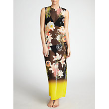 Buy Ted Baker Missah Opulent Bloom Maxi Cover Up, Black Online at johnlewis.com