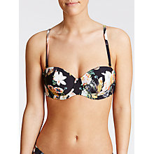 Buy Ted Baker Movida Opulent Bloom Bikini Top, Black Online at johnlewis.com