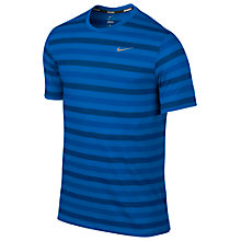 Buy Nike Touch Dri-Fit Crew Neck Striped T-Shirt Online at johnlewis.com