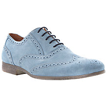 Buy Dune Rayman Wingtip Suede Brogues, Blue Online at johnlewis.com