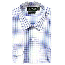 Buy Lauren by Ralph Lauren Large Check Poplin Shirt, White/Blue Online at johnlewis.com