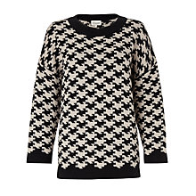 Buy Somerset by Alice Temperley Jacquard Oversized Knit Top, Black/Cream Online at johnlewis.com