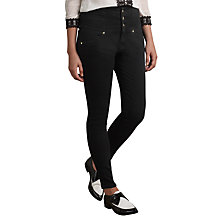 Buy Somerset by Alice Temperley High Waisted Denim Jeans, Black Online at johnlewis.com