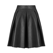 Buy Somerset by Alice Temperley Leather Flare Skirt, Black Online at johnlewis.com