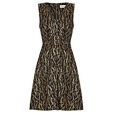 Buy Somerset By Alice Temperley Animal Jacquard Dress, Black/Gold Online at johnlewis.com