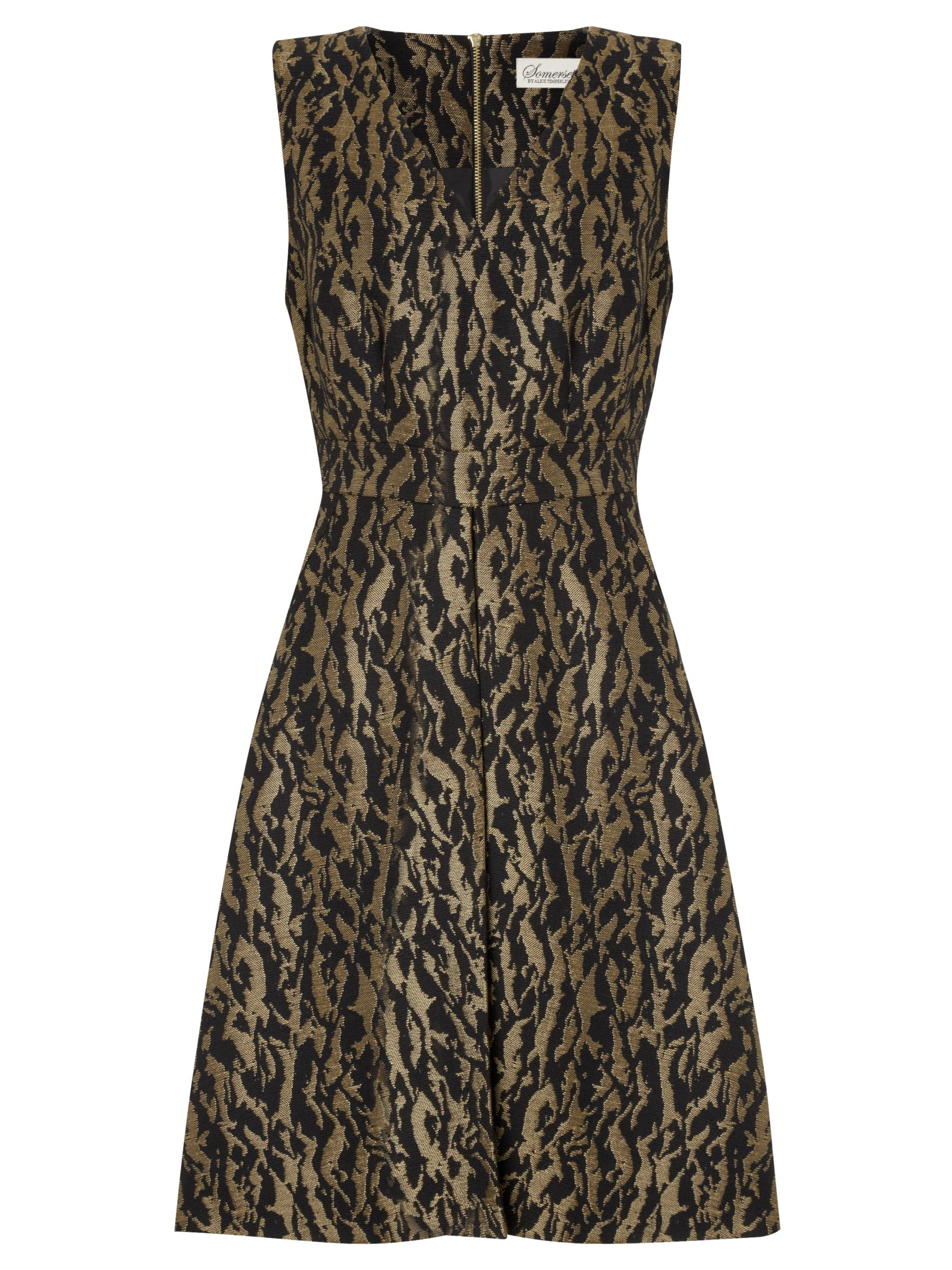 somerset by alice temperley animal jacquard dress black/gold, somerset, alice, temperley, animal, jacquard, dress, black/gold, somerset by alice temperley, clearance, womenswear offers, womens dresses offers, women, womens dresses, party outfits, party dresses, special offers, fashion magazine, brands l-z, 1663294