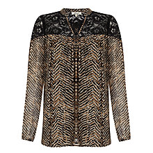 Buy Somerset by Alice Temperley Zig Zag Animal Print Tunic, Gold Online at johnlewis.com