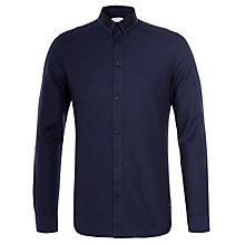 Buy Eleven Paris Kuste Micro Gingham Shirt, Navy Online at johnlewis.com