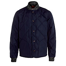 Buy Bellerose Quilted Bomber Jacket, Navy Online at johnlewis.com