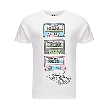 Buy Pear Shaped Apparel Cassette Graphic Print T-Shirt Online at johnlewis.com