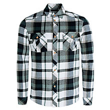 Buy Eleven Paris Kweet Plaid Shirt, Green/White Online at johnlewis.com