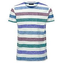 Buy Selected Homme Striped Round Neck T-Shirt Online at johnlewis.com