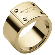 Buy Michael Kors Logo Plaque Ring Online at johnlewis.com
