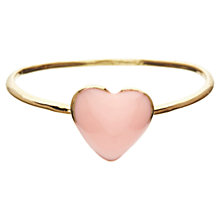 Buy Orelia Enamel Heart Ring, Pink Online at johnlewis.com