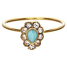 Buy Orelia Teardrop Enamel Stone Flower Ring Online at johnlewis.com